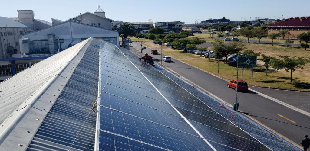 Solar Panel installation on Ellies building