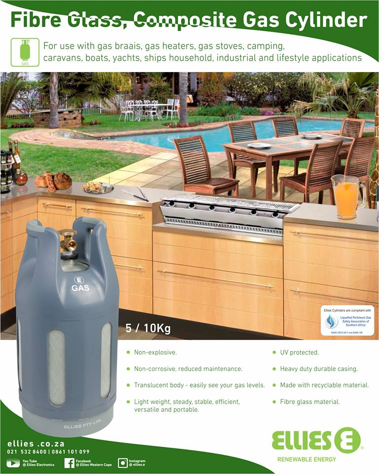 Ellies Fibre Glass Gas Cylinders