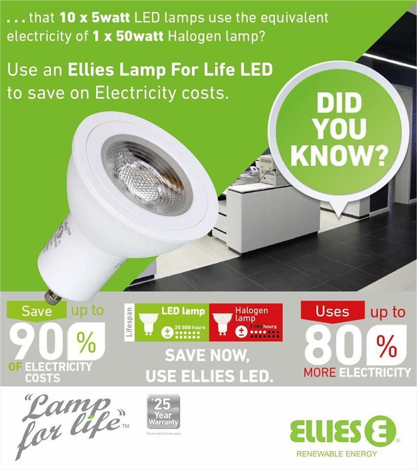 Ellies Lamp For Life LED GU10 Downlights