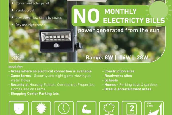 Mightylite LED Solar Rechargeable Floodlights